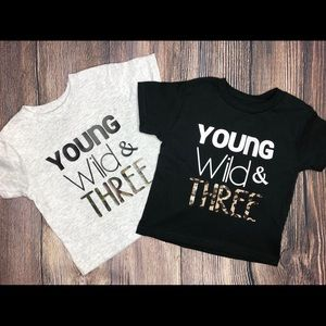 young wild and three unisex